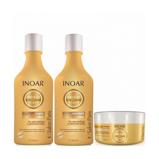 Inoar Absolut Day Moist shampoo, conditioner and mask ( Small kit )