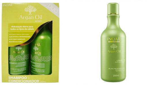 Inoar Argan Oil kit ( 3-pcs with leave-in conditioner )