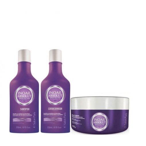 Inoar Speed Blonde Silver shampoo, conditioner and masker (Small kit )