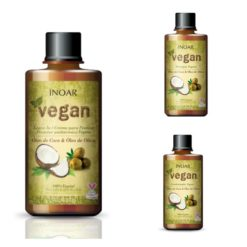 Inoar Vegan shampoo, conditioner and leave-in conditioner ( 3 pcs )