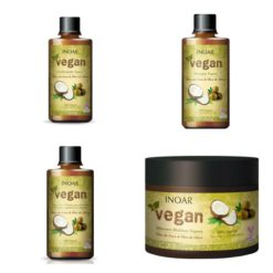 Inoar Vegan shampoo, conditioner, leave-in and mask ( 4 pcs )