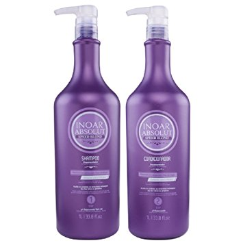 Inoar Speed Blonde silver shampoo and conditioner ( 2 x 1000 ML )