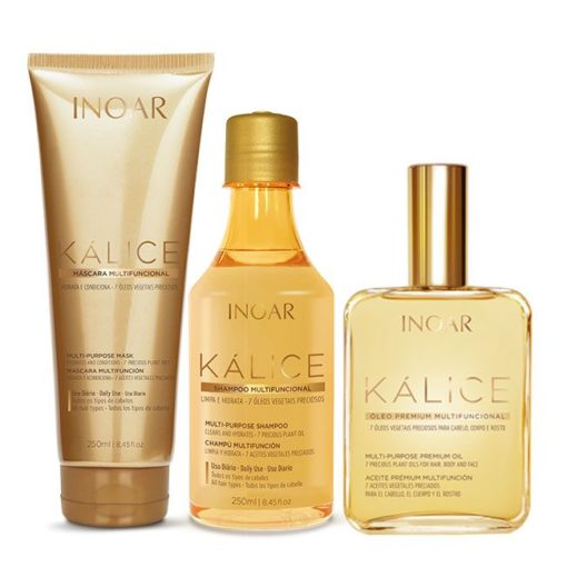 Inoar Kalice shampoo, mask and oil