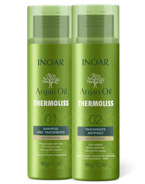 Inoar Argan Oil thermoliss keratin treatment 2 x 900 GR